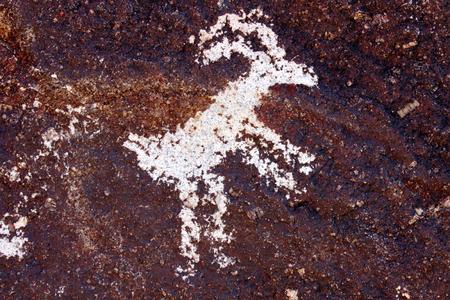 ideogram: Goat petroglyph on a rock wall at Grapevine Canyon Nevada Stock Photo