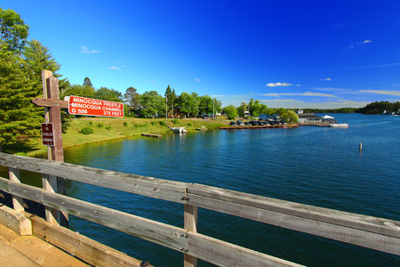 natural bridge state park: Bearskin State Trail in Minocqua Wisconsin Stock Photo