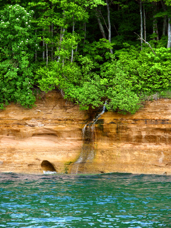 superior: Lake Superior at Pictured Rock National Lakeshore in Michigan Stock Photo