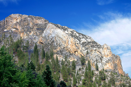 Mountainous terrain of Spring Mountains National Recreation Area of Nevada