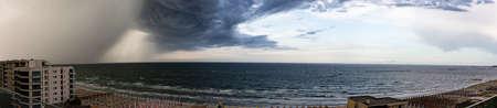 A panoramic shot of Lignano Sabbiadoro Sea Front, Italy