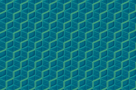 An illustration of geometric patterns with blue hues ideal for a background