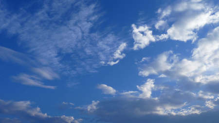 A low angle shot of water vapor condenses into clouds - perfect for background Banco de Imagens