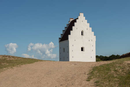Church buried in the sand in Skagen