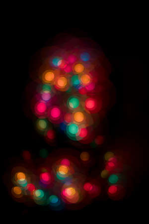 Blurred Christmas lights in the dark