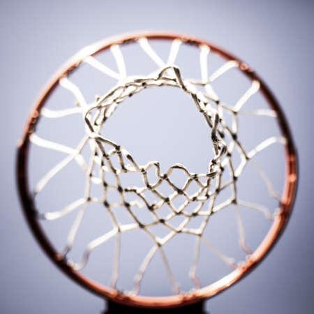 A basketball hoop shot from above