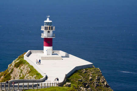 Lighthouse of Cape Ortegal in the northeren part of Spain Foto de archivo