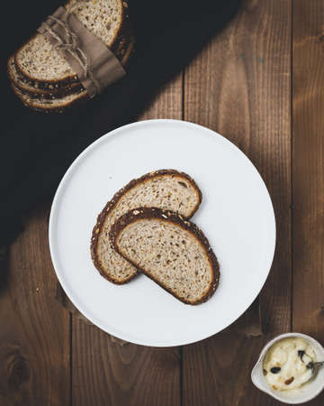 The standard breakfast is whole wheat bread