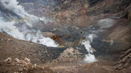 A picture of Mutnovsky Volcano in Russia Foto de archivo