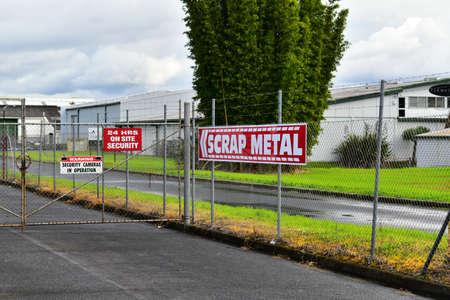 AUCKLAND, NEW ZEALAND - Jun 13, 2020: Auckland / New Zealand - June 13 2020: View of business in Rosebank industrial district
