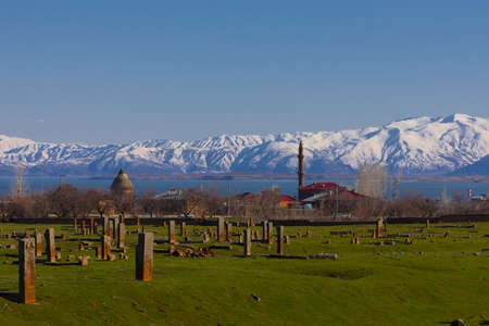 Ahlat, the world s largest Muslim cemetery and the first foot set on the land of Asia Minor by the Seljuk Turks, Stock fotó