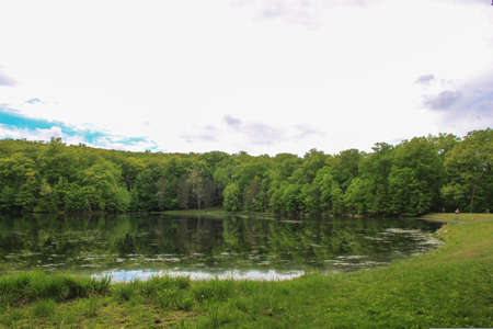 Landscape Shot of Winding Hills Park, Diamond Lake in Montgomery NY used for Outdoor Recreation