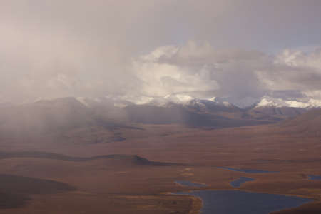 A beautiful shot of snowy mountains in the Gates of the Arctic National Park