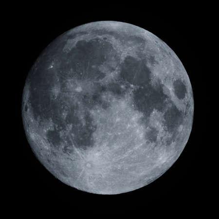 A closeup greyscale shot of the beautiful moon at night