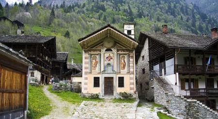 View from Valsesia Valley in Piedmont, Italy