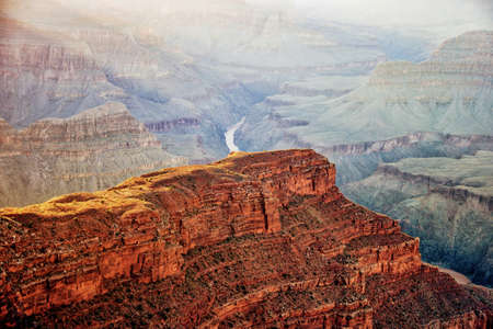 A breathtaking high angle shot of the famous Grand Canyon in Arizona
