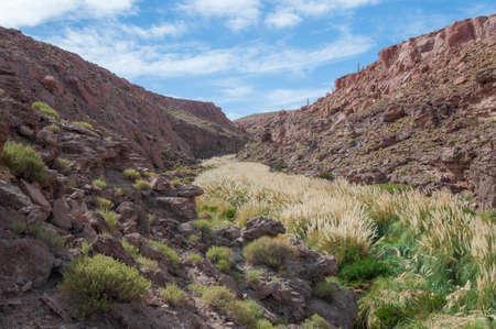 Canyon in San Pedro de Atacama in desert from Atacama in Chile 版權商用圖片