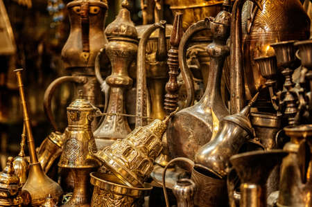 A closeup shot of historical vintage valuables made of gold Stok Fotoğraf