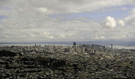 San Franciso skyline in 2009 overlooking the city