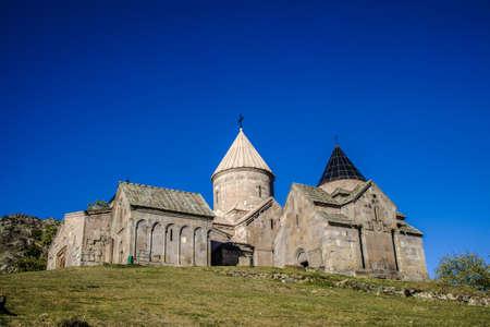 A beautiful shot of the famous Goshavank Monastery in Armenia 版權商用圖片