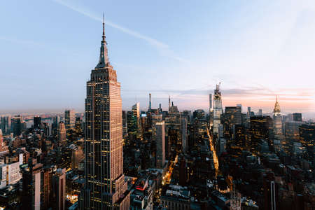 A beautiful view of the Empire States and skyscrapers in New York City, United States Stock Photo