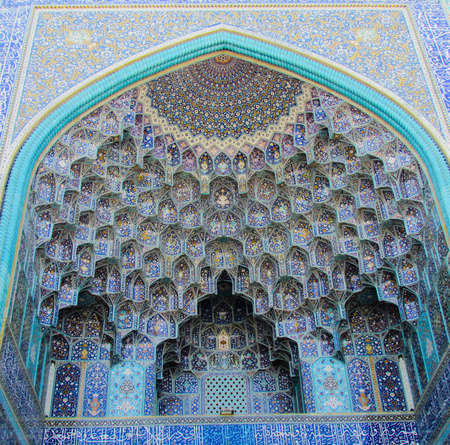 A low angle shot of the beautiful Shah Mosque captured in Isfahan, Iran