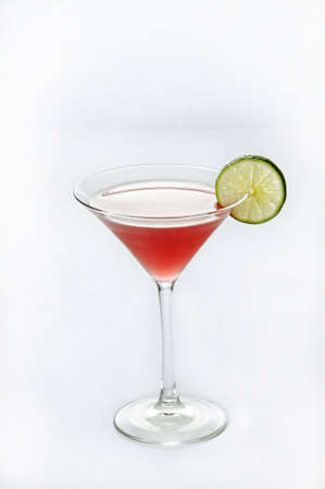A vertical isolated shot of Cosmopolitan cocktail - perfect for menu usage