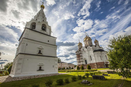 A beautiful view of the Luzhetsky Monastery of St. Ferapont captured in Mozhaisk, Russia