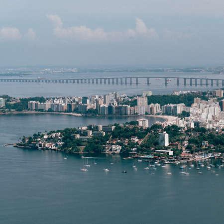 An aerial view of the Niteroi municipality in Rio de Janeiro, Brazil Imagens