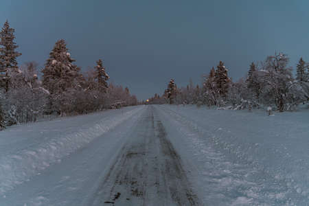 A marvelous winter scenery full of the magic of the season in Finland