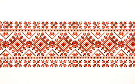 A beautiful traditional Moldavian ornament pattern on a white background