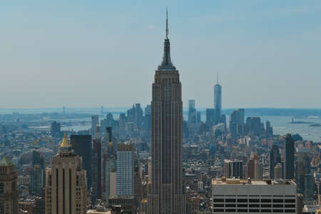 A birds-eye view of the famous modern skyscrapers in the skyline of New York City Reklamní fotografie