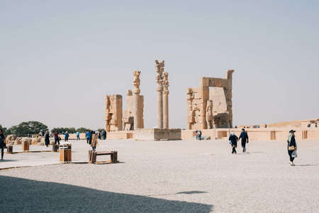 PERSPOLIS, IRAN - Oct 25, 2019: Ruines of Persepolis, the city of the Kings of Persia. Éditoriale