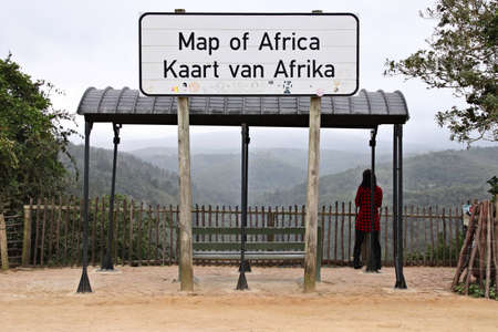 WILDERNESS, SOUTH AFRICA - Mar 23, 2019: The Map of Africa viewpoint in Wilderness, South Africa. This is a popular tourist attraction in the town.