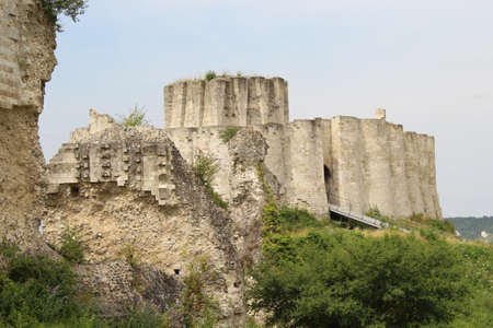 The famous Chateau Gaillard in France under the pure sky