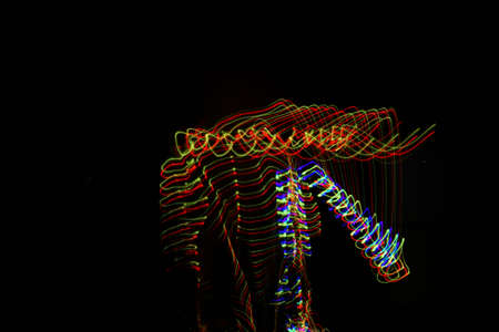 A cool beautifully made vibrant background of colorful lights created with a slow shutter speed Stockfoto