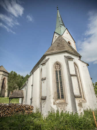 Lese churches on the hill in Charinthia region in Slovenia.