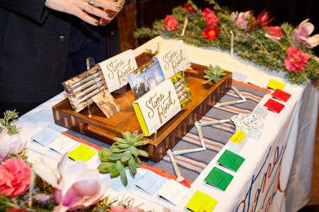 LOS ANGELES, UNITED STATES - Feb 09, 2019: Stone Road prerolls vendor table. Cannabis industry conference in Los Angeles, CA. WeedWeek Recharge LA Conference. Фото со стока