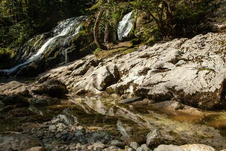 Cascade du Pissieu in the Bauges Naturel Regional Park in France