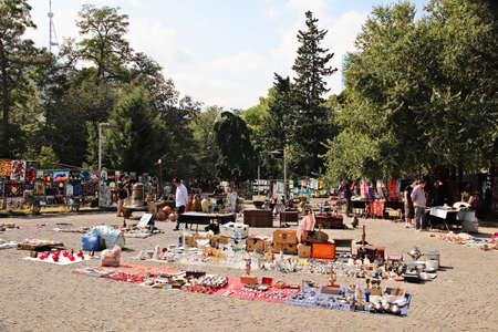TBILISI, GEORGIA - Sep 24, 2019: The Dry Bridge flea market in Tbilisi, Georgia. This is a popular tourist attraction in the city. 写真素材