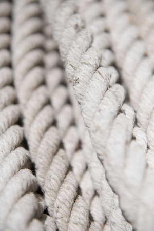 A vertical closeup shot of a white tight rope in Juan Lacaze, Uruguay