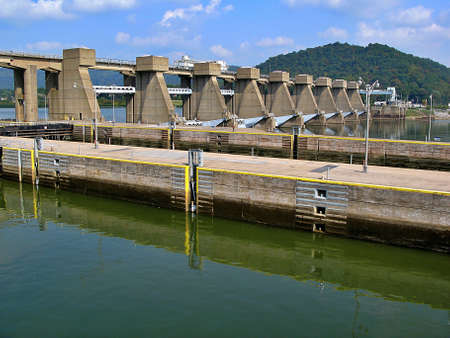 River locks located on the Ohio River in Hannibal.