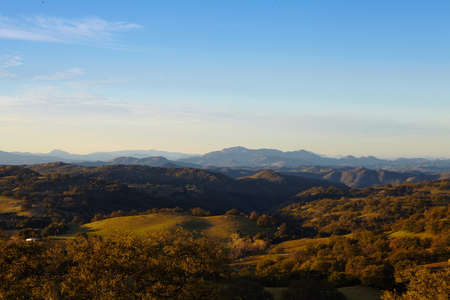 The mountains and trees of Mesa Grande in the morning light, San Diego