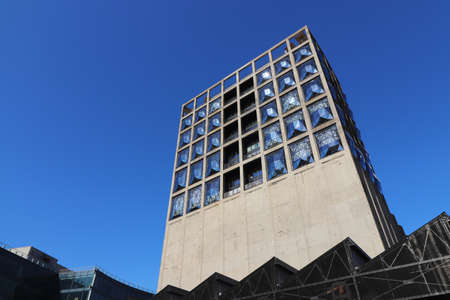 CAPE TOWN, SOUTH AFRICA - Dec 24, 0219: The Zeitz MOCAA at the V & A Waterfront is the largest museum of contemporary African art in the world.