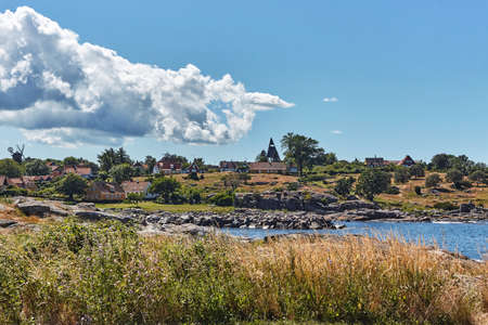A little fishing port in Svaneke, Bornholm island, Denmark 版權商用圖片