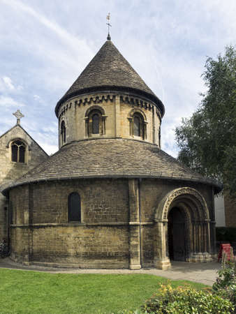 CAMBRIDGE, UNITED KINGDOM - Aug 11, 2017: CAMBRIDGE, UK:  The Church of the Holy Sepulchre, commonly known as The Round Church
