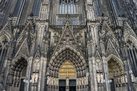 A beautiful shot of the Domplatte in Cologne Germany 版權商用圖片