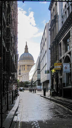 A vertical shot of St.Paul's Cathedral in the UK