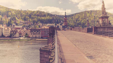 heidelbergs old city with selective focus