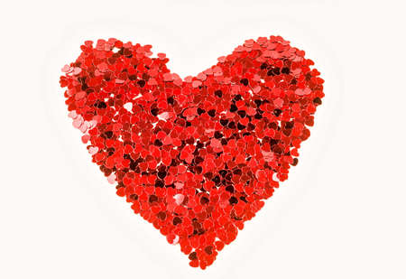 A beautiful red heart texture on a white background - great for a romantic background